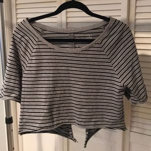 Free People Crop Top with Open Back